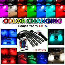 Rgb Led Neon Light Strip Under Car Tube Underglow Underbody Glow System Remote (Fits: Neon)