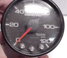 "Pro Parts Spek  2 1/16"" 0-120 PSI WATER PRESSURE GAUGE Black  JH21 NASCAR"