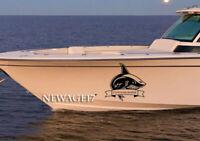Shark Boat Vinyl Decal Sticker Large Graphics Fish Fishing Custom Name