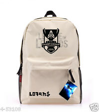 League of Legends S4 World Cup Mark Schoolbag Beige canvas backpack Anime bag