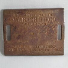 Wabash Railroad Pouch Check Buckle Stamped brass Wabash RR Co St. Louis MO