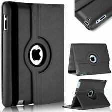 360 Rotating Leather Smart Cover Case for iPad 9.7 iPad 4 3 2 Mini Air Pro iPad 2|3|4 Black