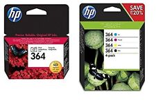 HP 364 5 Ink Cartridges Black Cyan Magenta Yellow Photo Black 5520 7520 D5468
