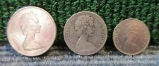 3 QUEEN ELIZABETH II COINS > 1969 25 CENTS, 1968 5 CENTS, 1973 10 CENTS(SET4)