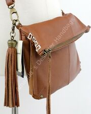 NWT LUCKY BRAND DEL REY LEATHER FOLD OVER CROSS BODY BAG TOBACCO $148