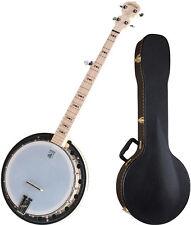 Deering Goodtime 2 Blonde Maple Resonator Banjo Bundle with Case!