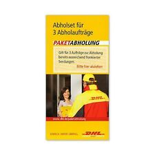 DHL Abholset: Paketabholung mit Coupon-Code gilt für 3 Abholaufträge - Wert 12 €