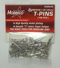 """HOBBICO NICKEL PLATED MEDIUM 1-1/4"""" T-PINS ( PACKAGE OF 100 )( PART # HCAR5150 )"""