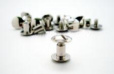 "Chicago Screws Nickel Plated LeatherCraft Belt Screw Post 10/Pack 1/4"" (6mm)"