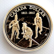 2012 CANADA 200th ANN OF WAR OF 1812 PROOF 99.99% SILVER DOLLAR COIN AND COA
