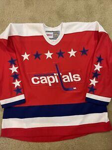CCM Vintage collection Washington Capitals NHL Jersey Men's Size 2XL NEW