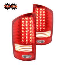 Rear LED Tail Lights Red Lens Chrome Housing LED 02-06 Dodge Ram 1500/2500/3500