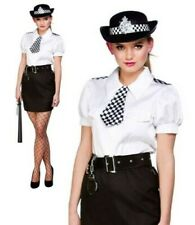Adults Police Woman Costume Sexy Constable Cutie Ladies Fancy Dress Outfit + Hat