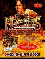 Hercules Trading Card Dealer Sell Sheet Sale Ad Rittenhouse 2001 Kevin Sorbo