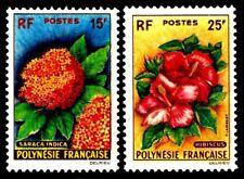 1962 French Polynesia #196-97 Flowers - OGNH  - VF - CV$40.00 (ESP#0646)