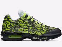 "🔥 Nike Air Max 95 ""All Over Print"" ® ( Men size UK 8.5 EUR 43 ) Volt / Black"