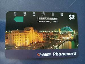 Mint $2 Museum of Contemporary Art Circular Quay Phonecard Prefix 552