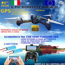 Drone GPS camera FULL HD mantenimento posizione auto ritorno 2 BATTERIE