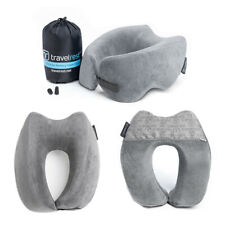 Travelrest Nest Ultimate Travel Pillow Memory Foam Neck Shoulder Support (Grey)