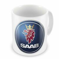 SAAB Car Manufacturer Coffee Tea Mug For Gift Present - White Mug 11Oz
