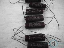 Sprague - 10 Vitamin Q .082 @ 200V 191P Oil Capacitors