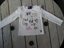T-shirt manches longues blanc cassé imprimé Littlest PETSHOP Taille 5 ans