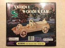 Sealed Antique Wooden Car Kit 82806 Pre-Cut 1931Mercedes SSKL