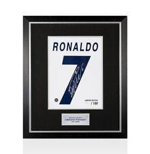 Framed Cristiano Ronaldo Signed Real Madrid Print 'Ronaldo 7', Limited Edition