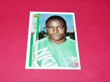 RASHIDI YEKINI NIGERIA FIFA WC FOOTBALL CARD UPPER USA 94 PANINI 1994 WM94