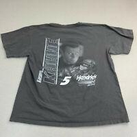 Kasey Kahne #5 T-shirt Mens Large Hendrick Motosports Gray Short Sleeve