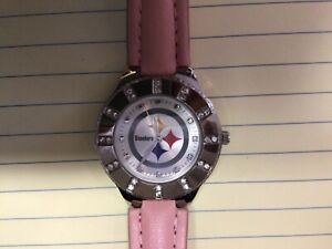 NFL Licensed Pittsburgh Steelers Women's Ladies Watch Game Time