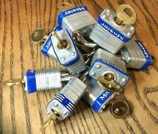 Master Lock #7 Laminated Steel Body Keyed Alike Padlocks 1 1/8 In   lot of 10