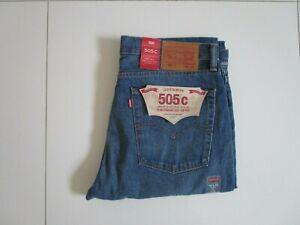 Men's Levi's 505C Blue Original Slim Straight Leg Non Stretch Jeans Size 36 x 32