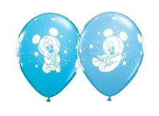 "Disney Baby Mickey Stars Qualatex 11"" Latex Balloons x 5 (Assorted Blue)"
