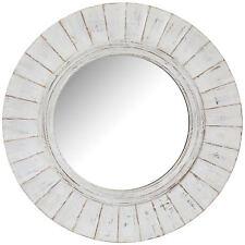 Haven White Wooden Round Mirror/Coastal/Hampton's Beach Style/Timber Mirror