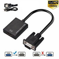 for TV PC Male to Female 1080P with Audio VGA To HDMI Cable Converter  Adapter