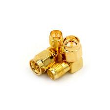 2pcs Adapter 90° RP.SMA Female Plug to SMA Male Plug Connector Right Angle ÁÍ