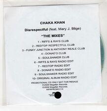 (GU522) Chaka Khan, Disrespectful ft Mary J Blige (the remixes) - 2009 DJ CD