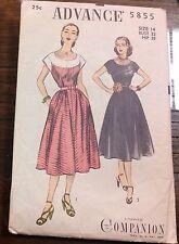 Vintage Advance Companion 40's Dress Belt Pattern #5855 Sz 14 Complete & UNCUT