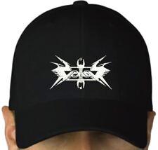 Vektor black cap hook and loop closure hat thrash metal