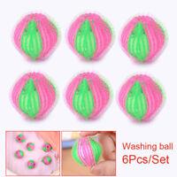 6pcs Laundry Wash Balls Hair Removal Clothes Washing Tools Lint Fluff Grabbing