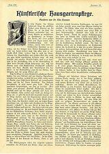 Il dottor Udo Dammer artistica casa giardino cura Plauderei un documento di testo 1901