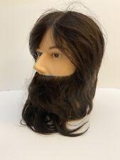 Burmax Man Human Hair Beard Hairdressing Cosmetology Practice Head Manikin Dylan