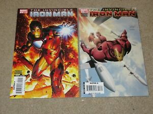 Invincible Iron Man #2-3 Lot Comic Books VF/NM 9.0 Marvel 2008