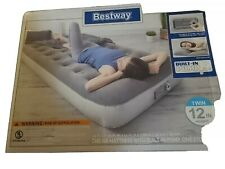 Bestway Air Mattress w/Built In Pump Storage Bag Twin Size. Built in pillow