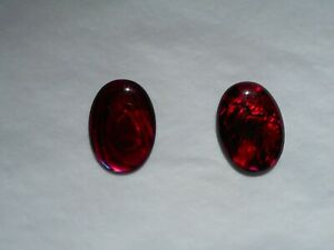 Abalone shell oval cabochon in red 18x13mm £1.80 each piece