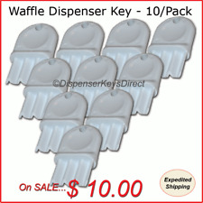 "Universal ""Waffle Key"" for Paper Towel & Toilet Tissue Dispensers - 10/pk."
