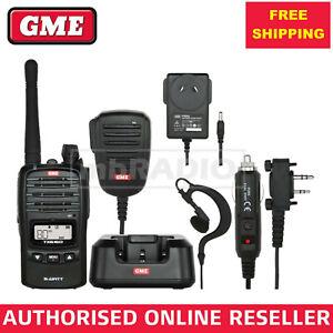 GME TX6160X 5 WATT UHF CB HANDHELD RADIO IP67 WITH ACCESSORY PACK