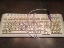 Keys U-See Large Print USB Keyboard Ivory with Black Print YKB-LP-IUSBPS2