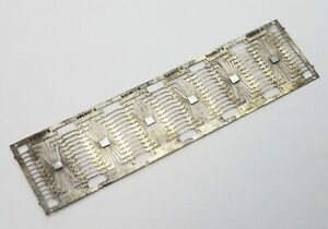 Six Atari Computer Chips on a Lead Frame - Traces, Incomplete, Development